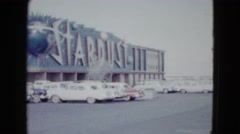 1958: the stardust casino in the late 1950's with its parking lot  Stock Footage