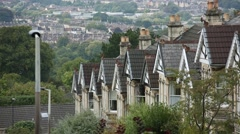 Typical Terrace houses in the City of Bath Stock Footage