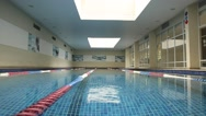 The Swimming pool interior shot.  Stock Footage
