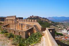 Citadel of Sagunto, Spain Stock Photos
