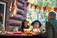 Family festivity Stock Photos