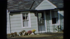 1964: a house and clothing outdoor of it CALIFORNIA Stock Footage