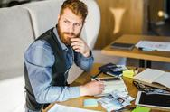 Pensive designer Stock Photos