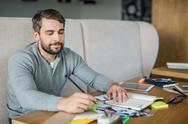 Man brainstorming Stock Photos