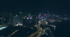 Aerial Shot of Big City At Night Arkistovideo