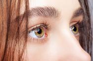Female face makeup Stock Photos