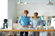 Working at project Stock Photos