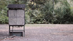 A power box in a park Stock Footage