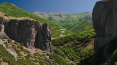 Wide aerial view flying over mountain landscape / Lindon, Utah, United States Arkistovideo