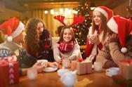 Christmas talk Stock Photos