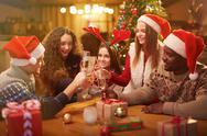 Christmas toast Stock Photos