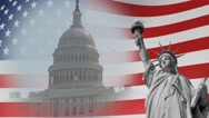US Election 02 - Background Loop Stock Footage