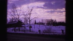 1967: a view of a sunset and ski vacation spot HAGERSTOWN, MARYLAND Stock Footage