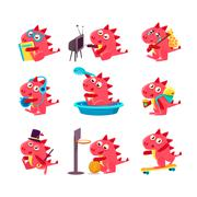 Red Dragon Everyday Business Stock Illustration