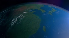 Planet Earth (Eurasia, Indian ocean, Near East, Africa) Stock Footage