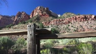 Zion National park, landscape 3000' above the fence Stock Footage