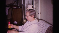 1967: grandma receives her brand new hair and face care kit HAGERSTOWN, MARYLAND Stock Footage