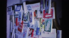 1967: christmas card board HAGERSTOWN, MARYLAND Stock Footage