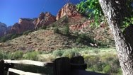 Wild west view, Zion National park, landscape Stock Footage
