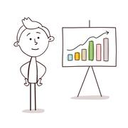 Business Man Presenting with Board Stock Illustration
