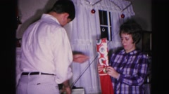 1967: christmas morning and it's time to pass out the presents HAGERSTOWN Stock Footage