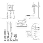 Lab Equipment Stock Illustration