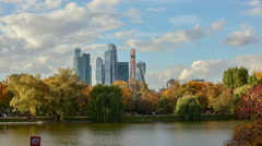 Clouds Over Moscow City Stock Footage