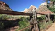 Pan left, Zion National park, landscape Stock Footage