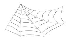 Halloween spiderweb vector symbol icon design. Stock Illustration