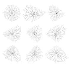 Halloween spiderweb vector symbol icon design. Stock Illustration