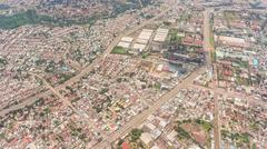 Aerial view of the Addis Ababa, the capital city of Ethiopia Stock Photos