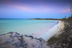 View of Playa Larga at sunset, Cayo Coco, Jardines del Rey, Ciego de Avila Stock Photos