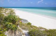 Sand dunes at Playa Pilar, Cayo Guillemo, Jardines del Rey, Ciego de Avila Stock Photos