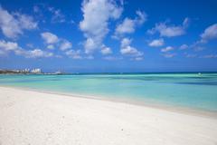 Palm Beach, Aruba, Lesser Antilles, Netherlands Antilles, Caribbean, Central Stock Photos