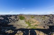 Eldborg volcanic crater, declared a Protected Natural Monument in 1974, Iceland, Stock Photos