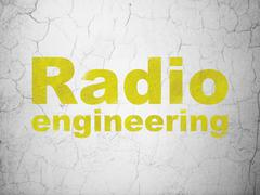 Science concept: Radio Engineering on wall background Stock Illustration