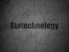 Science concept: Biotechnology on grunge wall background Stock Illustration