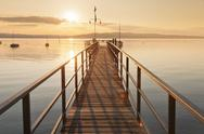 Sunset at Lake Constance, near Konstanz, Baden-Wurttemberg, Germany, Europe Stock Photos