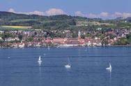 View over Lake Constance to Ueberlingen, Lake Constance, Baden-Wurttemberg, Stock Photos