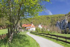 St. Georg chapel, Kaeppeler Hof, Thiergarten, Danube Valley in spring, Upper Stock Photos