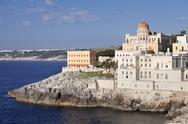 Santa Cesarea Terme, Villa Sticchi, Adriatic Sea, Lecce province, Salentine Stock Photos