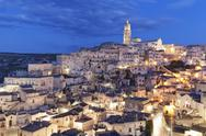 Sasso Barisano and cathedral, UNESCO World Heritage Site, Matera, Basilicata, Stock Photos