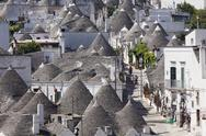 Trulli, traditional houses, Rione Monti area, Alberobello, UNESCO World Heritage Stock Photos