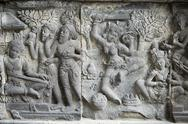 Hindu carvings on the Prambanan temples, UNESCO World Heritage Site, near Stock Photos