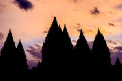 Prambanan Hindu temples, UNESCO World Heritage Site, near Yogyakarta, Java, Kuvituskuvat