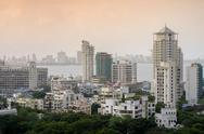 General view of the skyline of central Mumbai (Bombay), Maharashtra, India, Asia Stock Photos