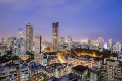 General view of the skyline of central Mumbai (Bombay), Maharashtra, India, Asia Stock Photos