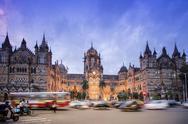 Chhatrapati Shivaji Terminus (Victoria Terminus), UNESCO World Heritage Site, Stock Photos