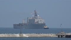 USS Whidbey Island on Ukrainian-American exercises Sea Breeze Stock Footage