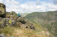 The trail to The Old Man of Coniston in the Lake District National Park, Stock Photos